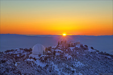 LH4025_Lick Observatory Snow Sunset